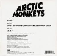 ARCTIC MONKEYS Don't Sit Down 'Cause I've Moved Your Chair Vinyl Record 7 Inch Domino 2019